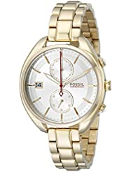 Fossil Womens CH2976 Land Racer Gold-Tone Stainless Steel Watch