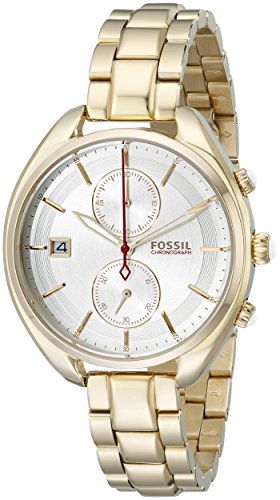 Fossil White Gold Bracelets (Fossil Women's CH2976 Land Racer Gold-Tone Stainless Steel Watch)