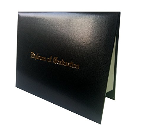 "Certificate Cover Imprinted ""Diploma Of Graduation"" Smooth Diploma Cover 8.5"" x 11"" Grad Days(Black)"