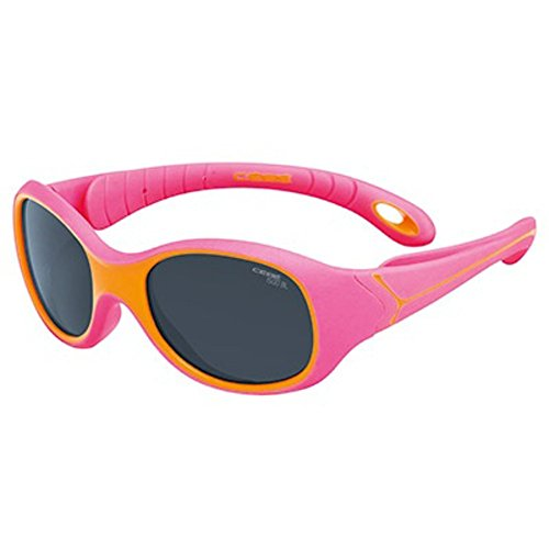 CEBE S KIMO 1 TO 3 YRS KIDS SUNGLASSES (1500 GREY BLUE LIGHT LENS FUCHSIA ORANGE - Sunglasses Cebe