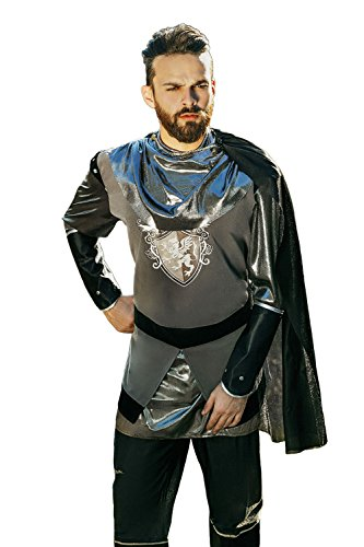[Adult Men Noble Knight Halloween Costume Medieval Crusader Dress Up & Role Play (One size fits] (Medieval Shirt Adult Costumes)
