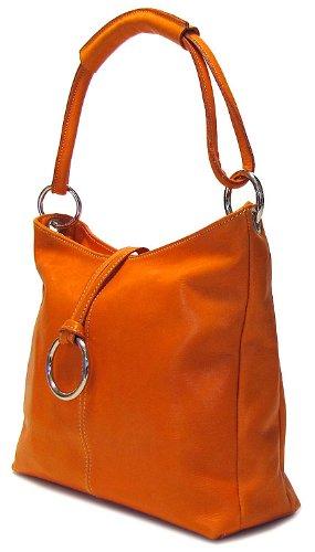 Floto Luggage Cell Phone Pocket Tavoli Tote, Orange, Medium