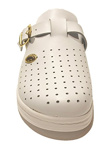 COX Women's 372 Closed Toe White RkBCWIQb