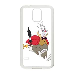 Disney Alice In Wonderland Character White Rabbit Samsung Galaxy S5 Cell Phone Case White Phone Accessories JVG1G607