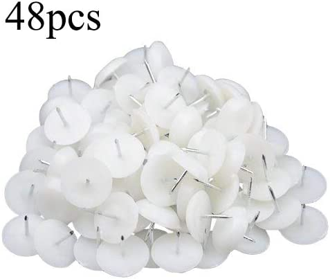 100 PACK THICK WHITE FURNITURE GLIDES NAIL IN 16mm Wide Table//Chair//Feet//Large
