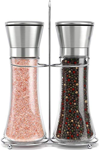Original Stainless Steel Salt and Pepper Grinder Set With Stand