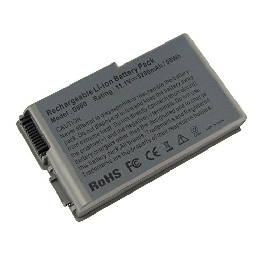 Futurebatt New 6 Cell 5200mAh Laptop Battery for Dell Latitude D520 D500 D600 D610 C1295 (Latitude Battery D610 Dell)