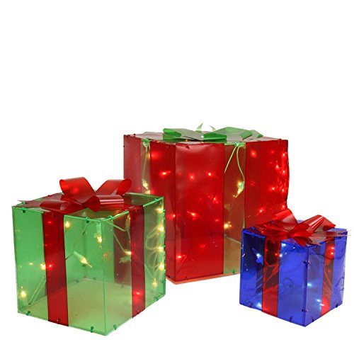 Outdoor Lighted Gift Box Decorations - 2