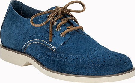 Sperry Top-Sider Mens Boat Oxford Wing Tip Blue Suede izLRY