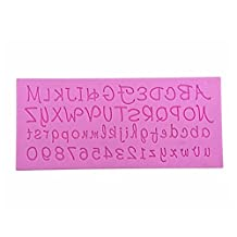 SODIAL(R)Silicone 26 Lowercase Alphabet Letters + 26 Capital Letters +0-9 Numbers Cake Biscuit Fondant Decorating Mould
