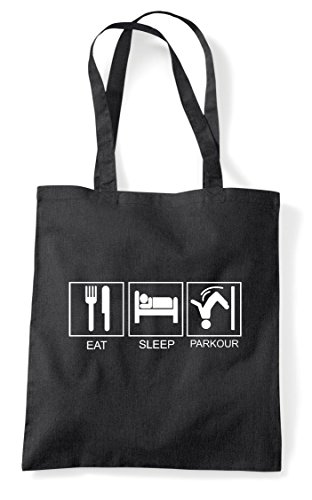 Shopper Black Activity Tote Sleep Bag Hobby Tiles Eat Parkour Funny 8zTqUPxw