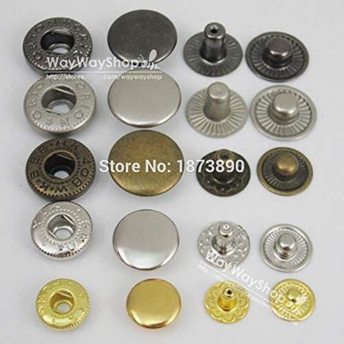 Leather Rivets Set 500 Sets 10mm 3/8'' Rapid Rivet Button Snaps Fasteners for Leather Craft 5 Color Choice 4in1