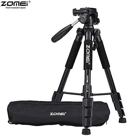 Live Tripods - Original ZOMEI Q111 Portable Tripod Professional Aluminum Camera Tripod for DSLR Camera Flexible Video Tripod Stand (Black)