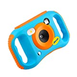 UMei Kids Camera Digital Camera 8MP1080P HD Video Camera Mini Kid Toys Gift Camcorders for Kids 3-10 Years Old US Stock Blue