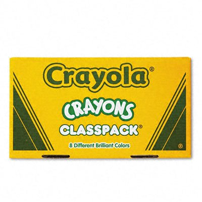 Classpack Large Size Crayons, 50 Each of 8 Colors, 400/Box