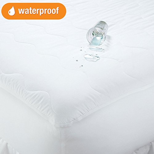 BrylaneHome Total Protection Mattress Pad - White, King