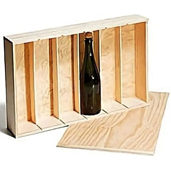 Caja Madera 6 Botellas Vino: Amazon.es: Hogar