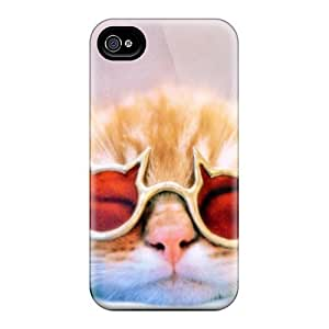 Top Quality Rugged Cool Cat Case Cover For Iphone 4/4s