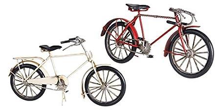 Dakota - Figura Metalica Bicicleta Vintage Blanca 26 cm ...