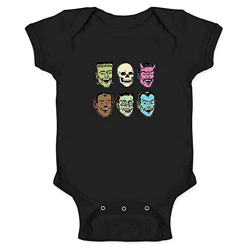 Pop Threads Retro Monster Party Halloween Costume Zombie Black 6M Infant Bodysuit