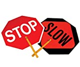 "NMC PS1 Traffic Sign Message Only 10"" Plastic Handheld Paddles"