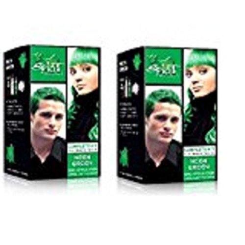Splat Rebellious Colors Hair Coloring Kit - Neon Green (Set of 2) by Splat
