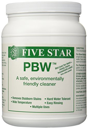 Five Star PBW Cleaner (Powdered Brewery Wash), 4-Pound - Five Pbw Star Cleaner