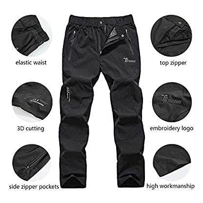 YSENTO Women's Outdoor Quick Dry Hiking Trousers Lightweight Water Resistant Walking Climbing Pants With Zipper Pockets 4