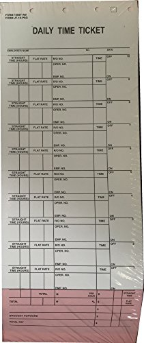 10 Label Job Time Tickets / Flag Sheets (500/Pack)