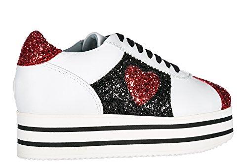 Chiara Ferragni Scarpe Sneakers Donna in Pelle Nuove Bianco