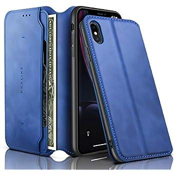 Amazon.com: REALIKE iPhone XsMax Wallet Case Leather Folio