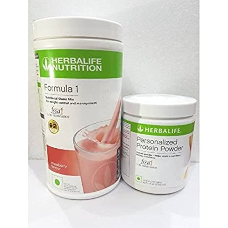 Herbalife 500 G Formula 1 Shake For Weight Loss And 200 G Strawberry And Protein Powder