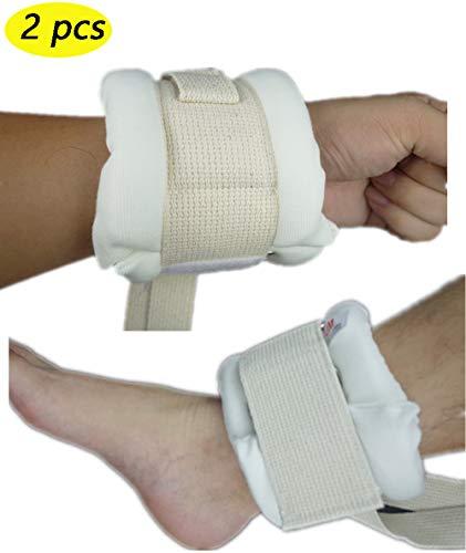 BIHIKI Control Limb Holder,2 PCS Medical Restraints Patient Hospital Bed Limb Holders for Hands Or Feet Universal Constraints Control Quick Release (L)
