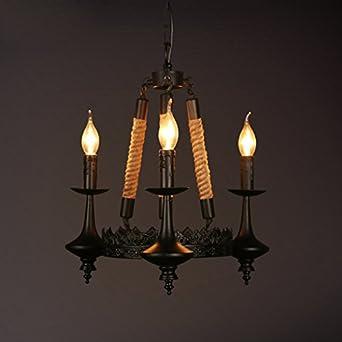 Adelaide - American Village Retro Hemp rope chandelier ...