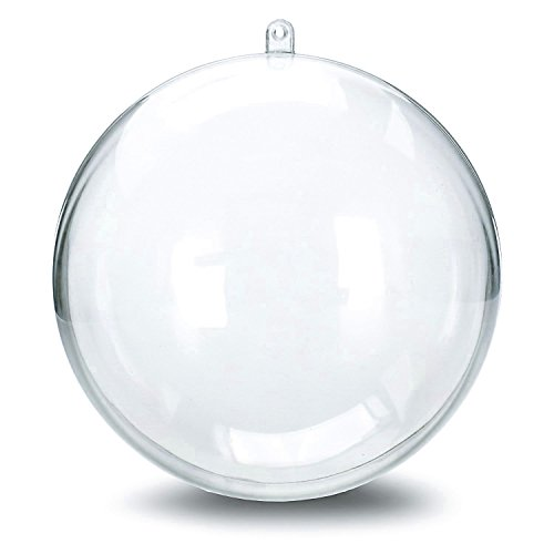 ShellKingdom 12 Pieces of Transparent Plastic Filled Ball Ornaments Christmas Birthday Wedding Party Decorations - Ornament Filled
