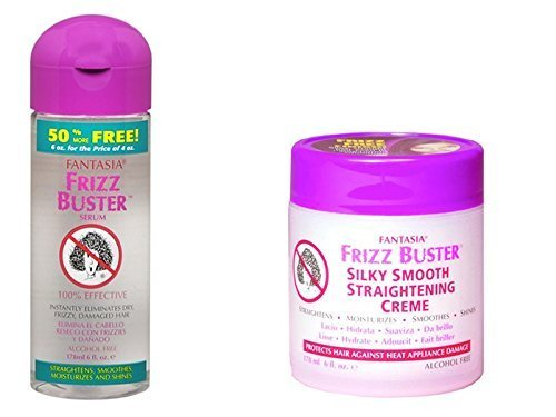 Frizz Buster Serum 178ml & Frizz Buster Straightening Creme 178ml Duo Set Fantasia Industries