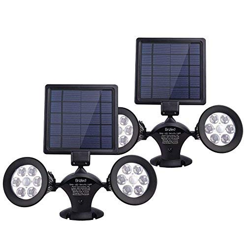 Twin Head Solar Light With Pir