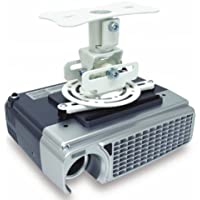 Atdec TH-WH-PJ-FM Flush to Ceiling Projector Mount for Displays up to 33-Pound, White
