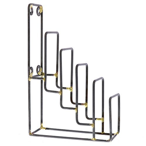 Set 2 Tiered Metal Display Stands | Plate Rack Easel Holder Tabletop