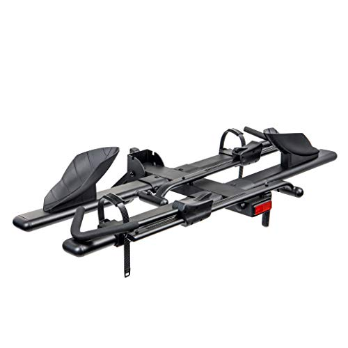 Overdrive Hitch Mount Bike Rack Bicycle Carrier – Front Clamping, Platform Style – 2-Bike, Fits 1.25″ and 2″ Hitch Receivers (Fits All Bikes)
