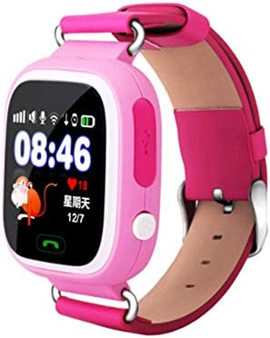 Global Positioning Touch Color Screen GPS Childrens Smart Watch WiFi Children Positioning Watch (Pink)