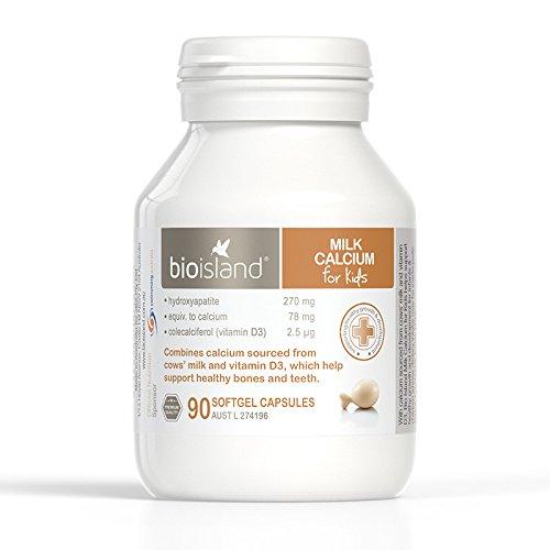Bio Island Milk Calcium for Kids 90 Capsules ()