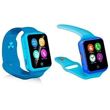 KawKaw D3 - Smartwatch con pulsómetro y Smartcam con Mensajes Push ...