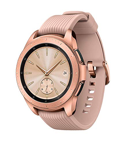 Samsung – Galaxy Watch Smartwatch 42mm Stainless Steel LTE SM-R815UZDAXAR GSM Unlocked – Rose Gold (Renewed)
