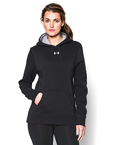 Under Armour Women's UA Team Rival Fleece Hoodie Small Black