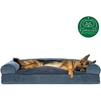 Amazon.com: Furhaven Cama para perro | Cojín de lujo tipo ...