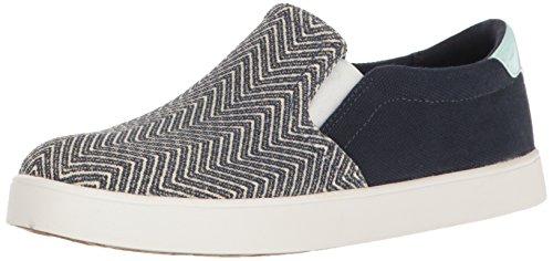 Dr. Scholl's Shoes Women's Madison Fashion Sneaker, Navy Chevron Canvas, 11 M US