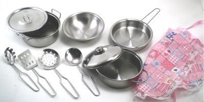 Buy Kitchen Set Real Metal Pots And Pans With Cooking Tools Online