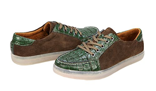 Serene Mens Textured Suede Fashion Sneakers(9.5 D(M)US, Tan)