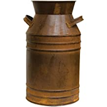 Old-Fashioned Rusty Metal Milk Can Large Country Primitive Home Décor